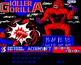 Killer Gorilla Electron Loading screen from the Play it again Sam re-release from Superior software