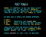 Percy Penguin BBC Micro Title page and instructions