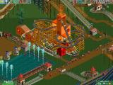RollerCoaster Tycoon 2 Windows Nobody will ride this Wild Mouse Ride because it's raining.