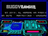 Buggy Ranger ZX Spectrum The player then sees this screen in which the game credits scroll across the bottom of the screen. The main window is occupied with the game title, DINAMIC & IRON BYTE in bouncing text