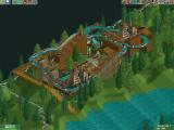 RollerCoaster Tycoon 2 Windows My new log ride is doing a test run before I open it.