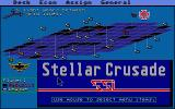 Stellar Crusade Atari ST Main map screen
