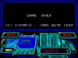 Buggy Ranger ZX Spectrum Game over. No sore of any kind. Back to the second game screen with the bouncing titles