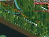 RollerCoaster Tycoon 2 Windows Testing out my new monorail, hoping to get some traffic off the paths.