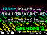 Gremlins 2: The New Batch ZX Spectrum Load screen 4 - credits & copyright