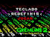 Gremlins 2: The New Batch ZX Spectrum Game menu