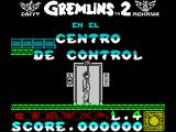 Gremlins 2: The New Batch ZX Spectrum The start of the game.