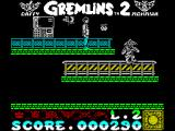 Gremlins 2: The New Batch ZX Spectrum This looks like a bonus item but to get it the player must turn their back on a cascade of pogo-ing Gremlins