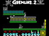 Gremlins 2: The New Batch ZX Spectrum Bonus item retrieved, though it costs a life. Now the character seems to be shooting cherries or hearts at them