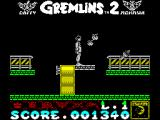 Gremlins 2: The New Batch ZX Spectrum Moving on - on top of a filing cabinet. The drawers move in & out to make steps and this is a bridge to the next gantry