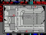 Hostage: Rescue Mission ZX Spectrum The game starts with a map of the embassy and a scrolling mission briefing running across the top. The objective is to get 3 men into 3 locations, survey the embassy and intervene in the assault
