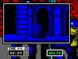 Hostage: Rescue Mission ZX Spectrum Delta comes out of the shadows and dives to avoid the search lights