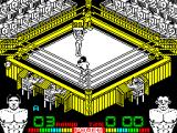 Poli Díaz ZX Spectrum This is a big fight, all the seats are filled and there's a pretty girl who walks round the ring showing the round.