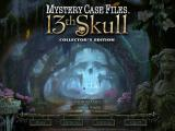 Mystery Case Files: 13th Skull (Collector's Edition) Windows Main menu