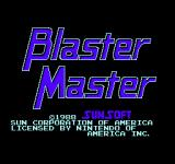 Blaster Master NES Title Screen