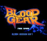 Blood Gear TurboGrafx CD Title screen