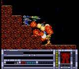Blood Gear TurboGrafx CD What a battle! Several robots attack me from all sides - shooting, melee, you name it...