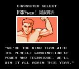Super Spike V'Ball NES Choosing your character
