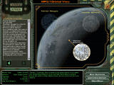 MechWarrior 4: Mercenaries Windows The orbital view allows you to select the available missions on the current system.