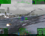 MechWarrior 4: Mercenaries Windows Directing my lance to scout ahead while we dodge enemy fire.