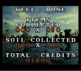 Waterworld SNES Underwater section results screen.