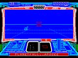 Starglider 2 ZX Spectrum Start of game. Icarus, that's the name of the ship, is flying over a planet surface