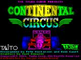 Continental Circus ZX Spectrum Load screen and credits