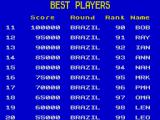 Continental Circus ZX Spectrum Hi-score table. The game alternates between this and the game menu.