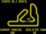 Continental Circus ZX Spectrum The first circuit, Brazil. To progress the player must qualify higher than 80