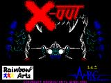 X-Out ZX Spectrum Game load screen