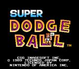 Super Dodge Ball NES Title