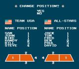 Super Dodge Ball NES Player position