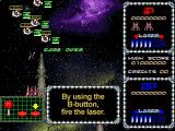 Galactic Attack Windows Ahead of the ship is a laser lock, pass this over a target and the game locks on the secondary weapon to destroy up to eight at a time
