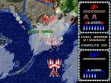 Galactic Attack Windows The game takes place over seven varied levels, here the ship is hidden by cloud