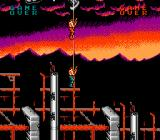 Super Contra NES Descending down a rope to start the game...
