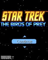 Star Trek: The Birds of Prey J2ME Main menu