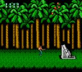 Super Contra NES Forest level