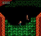 Super Contra NES You have to shoot down those green things in order to descend
