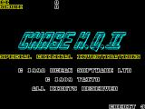 Chase H.Q. II: Special Criminal Investigation ZX Spectrum The start of game screen. There is no setup, no controller options to decide as this is a joystick only game, after this its straight into the game