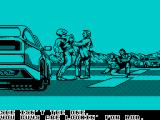 Chase H.Q. II: Special Criminal Investigation ZX Spectrum The car has been stopped. The message reads 'Stop talkin' nonsense. I know nothing. It's Bob the boss. She isn't the one. You guys are lookin' for Bob.' Ooops - wrong car!