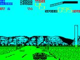 Chase H.Q. II: Special Criminal Investigation ZX Spectrum This time there are patches of something on the road, sand?, that can cause the car to skid