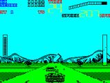 Chase H.Q. II: Special Criminal Investigation ZX Spectrum A cross hair has appeared but there's no big pointy arrow and no damage bar so this is not a car that's worth shooting at