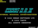 Chase H.Q. II: Special Criminal Investigation ZX Spectrum When all three lives are over the player is returned to the start screen which is updated with the latest score.