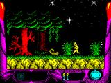 La Espada Sagrada ZX Spectrum Moving left and there are more familiar beasties to avoid