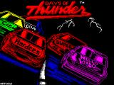 Days of Thunder ZX Spectrum Load screen by Mr Pixels