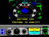 Days of Thunder ZX Spectrum before the race there's a picture/map of the track. The small white dot on the lower straight is the players car alone on the grid