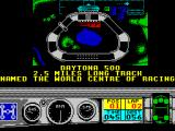 Days of Thunder ZX Spectrum Having qualified the player then enters the race. Is Daytona the 'World Centre of Racing'? Here there are many cars on the starting grid and the players position is indicated by a blinking spot.