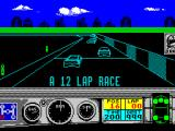 Days of Thunder ZX Spectrum Daytona race starts, there's no indication its a 12 lap race until the very beginning