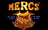 Mercs Amstrad CPC Title screen