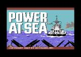 Power at Sea Commodore 64 Title screen
